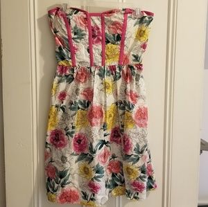 Strapless summer dress for juniors NWT